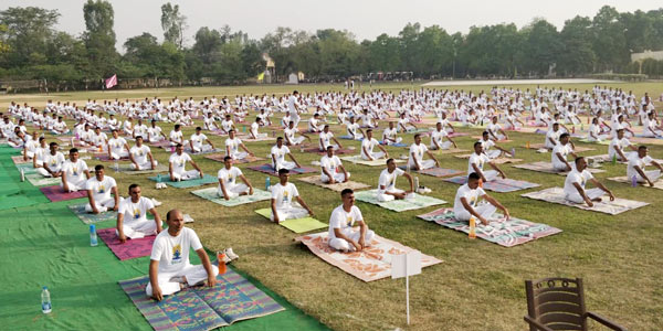 2000+ police officials from the Moradabad Police Academy participate