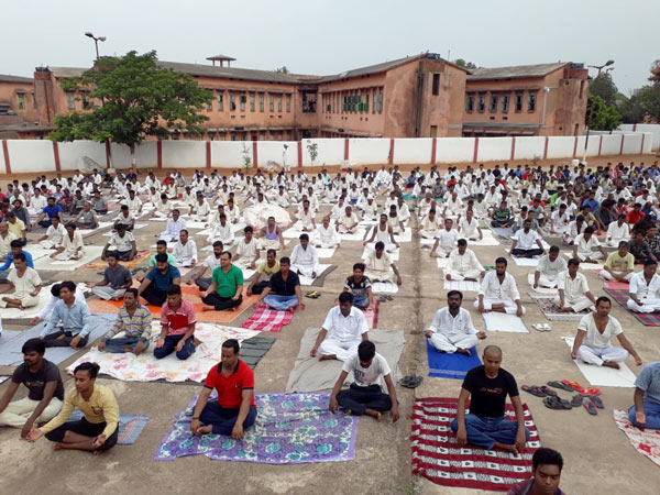 Hundreds of inmates at a prison in Jamshedpur join The Art of Living's International Day of Yoga celebrations. Thousands of prisoners participated in The Art of Living's Yoga Day celebrations from 25+ jails across the country