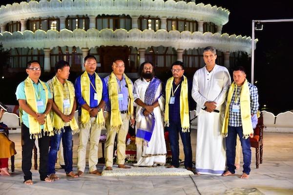 UPLA leaders with Gurudev Sri Sri Ravi Shankar