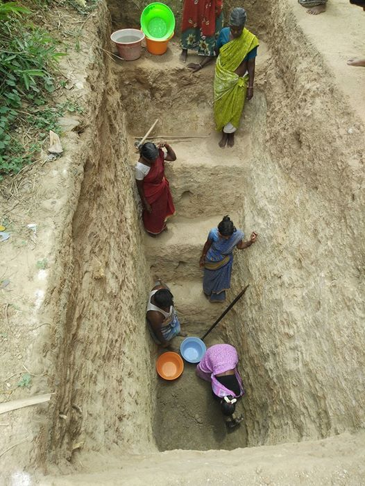 Women at work in Kammavapettai village for Naganadi river rejuvenation