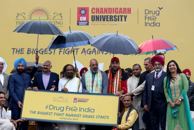 Drug Free India Chandigarh All Dignitaries with Governor V.P Singh Badnore