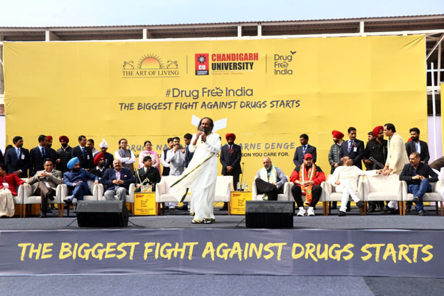 Drug Free India Chandigarh Sri Sri Ravi Shankar speech