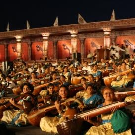 A Musical Symphony of 1,100 Veenas