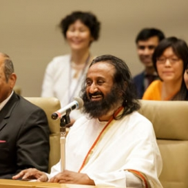 Gurudev inaugurates Yoga Club in Japanese Parliament