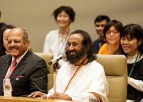 Gurudev inaugurates Yoga Club in Japanese Parliament