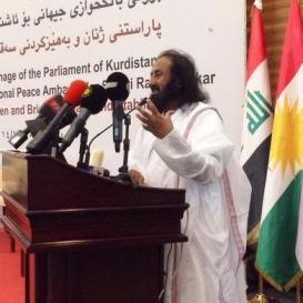 Sri Sri ventures into conflict zone to pitch for peace in Iraq